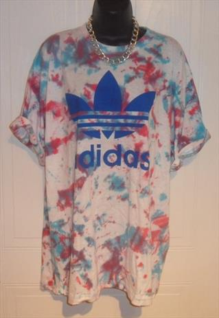 unisex customised adidas grunge acid wash tie dye t shirt XL | mysticclothing | ASOS Marketplace