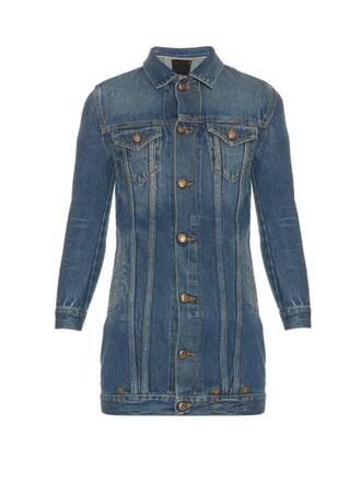 jacket denim jacket denim long blue