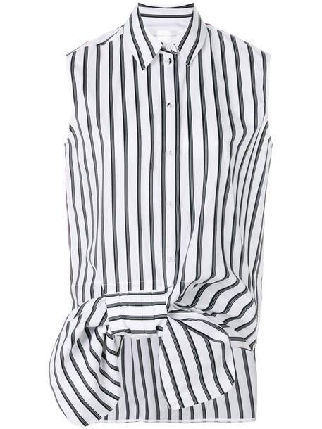 Victoria Victoria Beckham shirt bow sleeveless women white cotton top