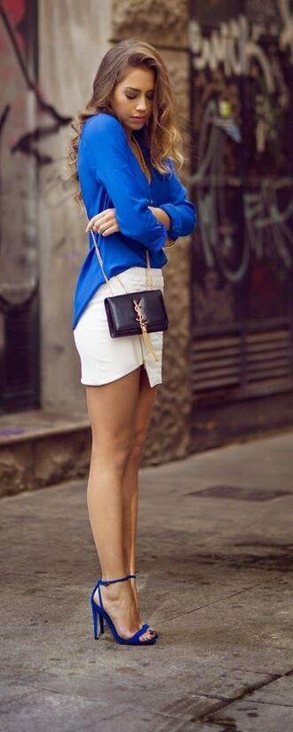 shoes sandals sandal heels royal blue royal blue heels strap heels fashion heels blue blue high heels ysl blazer skirt