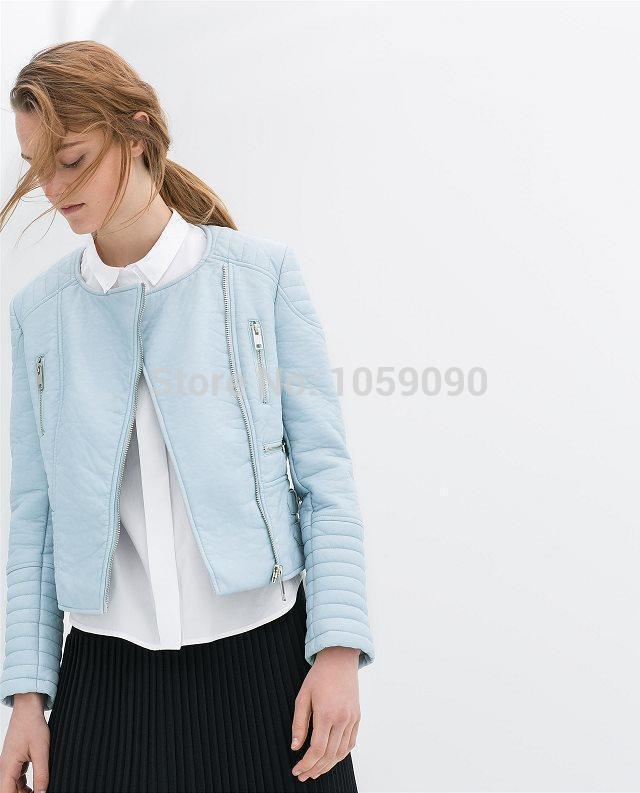 Aliexpress.com : Buy 2014 NEW ZA Autumn Pink Blue Black Stylish Motorcycle Oblique Zipper PU Leather Stitching Short Quilted Jackets Suede For women from Reliable jacket khaki suppliers on Vogue Official Online Shop | Alibaba Group