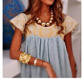 blouse gold