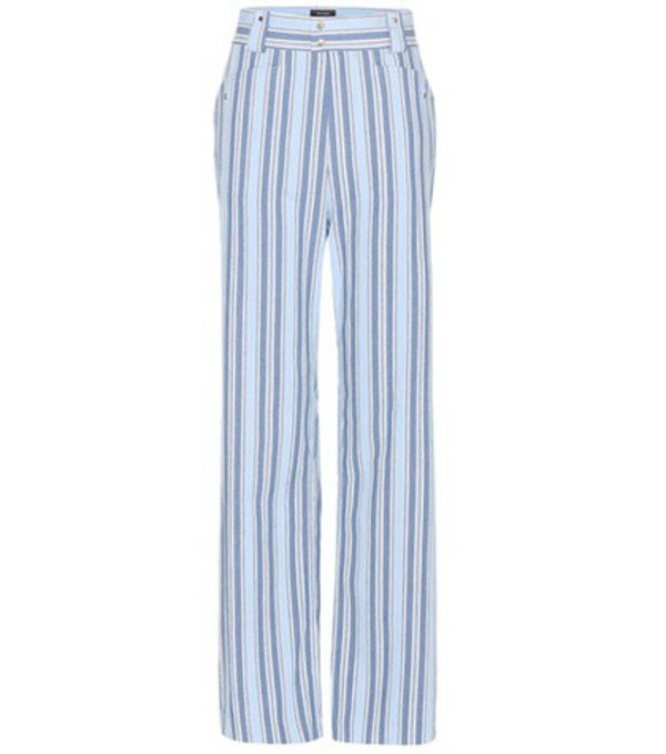 Isabel Marant Selina Cotton Trousers in blue