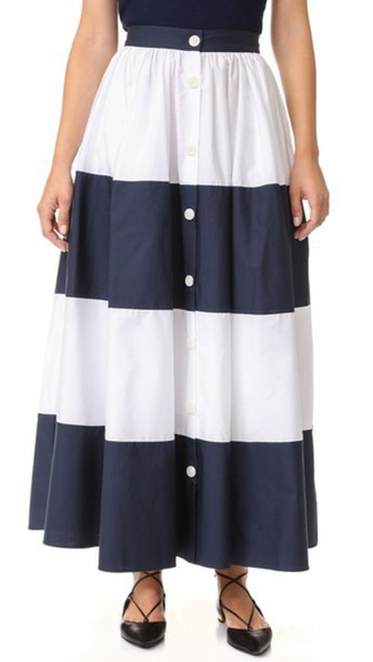 f6fc7aaff Mds Stripes Colorblock Ball Skirt - Navy/White - Wheretoget