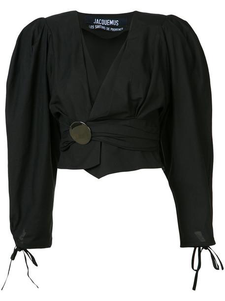 beea0e2a78f Jacquemus Jacquemus - draped cropped blouse - women - Cotton - 38
