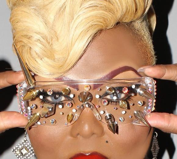 spikes rhinestones sunglasses sunnies sunglasses black vintage sylish