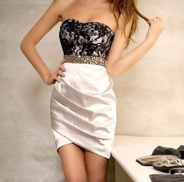 dress short prom dress white short dress