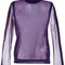 Maison margiela sheer panelled ribber jumper, women's, size: medium, pink/purple, polyester/wool