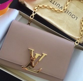 bag lv lv bag pochette beige beige bag nice bag gold