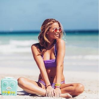 swimwear crochet bikini purple indah