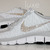 NIKE free 5.0 v4 shoes w/Swarovski Crystals Zebra White/Wolf Grey/Metallic Silver / Luxe Ice