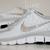 NIKE free 5.0 v4 shoes w/Swarovski Crystals Zebra White/Wolf Grey/Metallic Silver / Luxe Ice