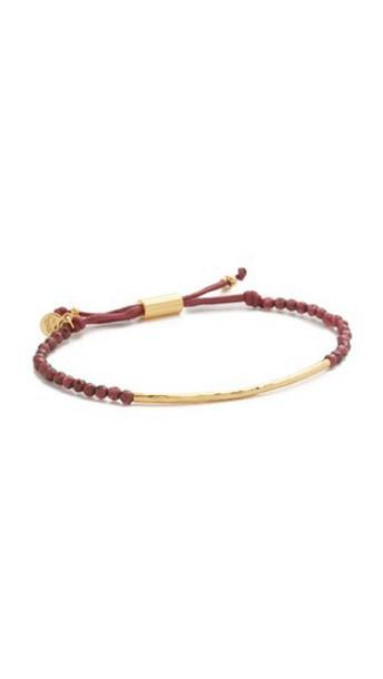 Gorjana Power Gemstone Bracelet For Energy - Gold/Garnet
