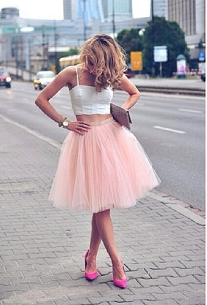 Tulle puffy Skirt - Juicy Wardrobe
