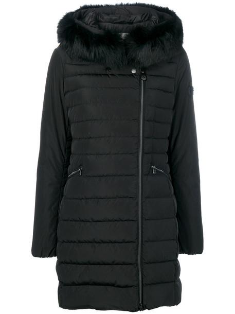 Peuterey coat fur fox women black