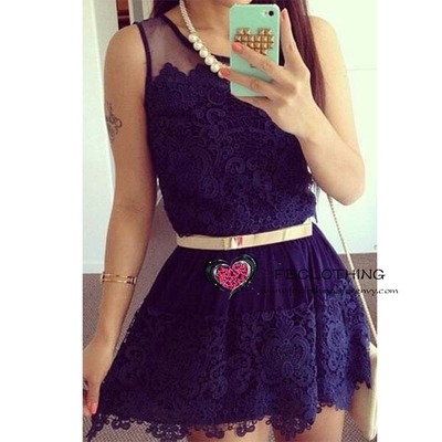 Dark blue lace dress · fe clothing · online store powered by storenvy