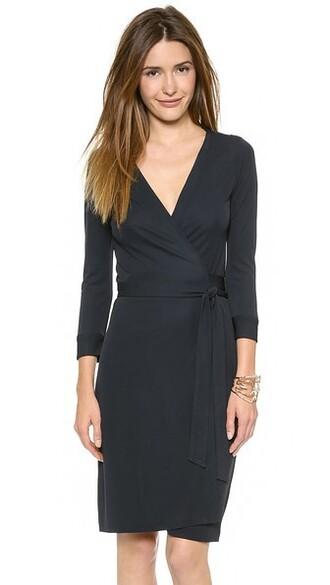 dress wrap dress new navy
