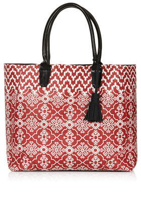 Tile Print Tote Bag - Bags & Purses - Bags & Accessories - Topshop