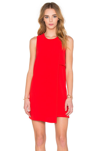 dress shift dress asymmetrical red