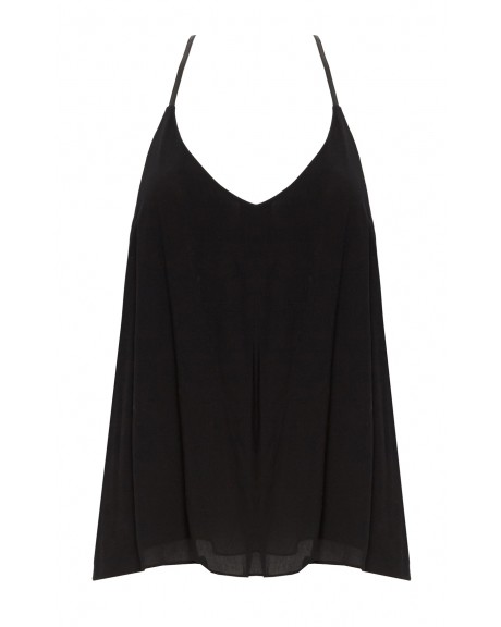 GUENDA TANK WITH LEATHER | Alice   Olivia |