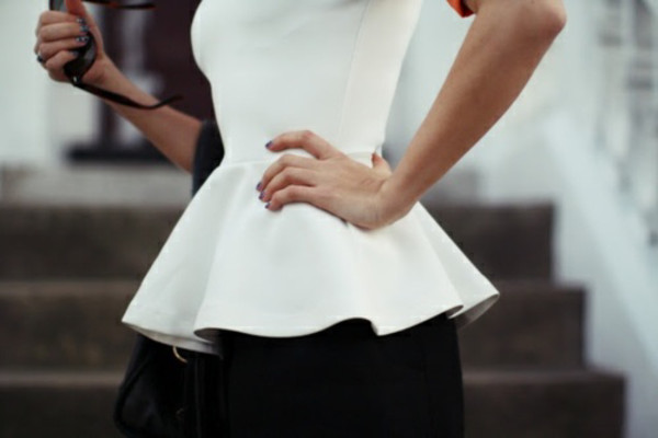 blouse peplum top