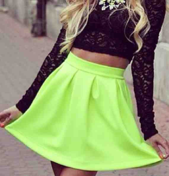 Skater Skirt Black & Yellow | District Apparel