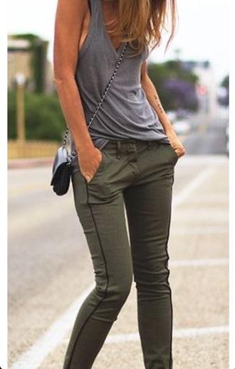 top grey vest jeans