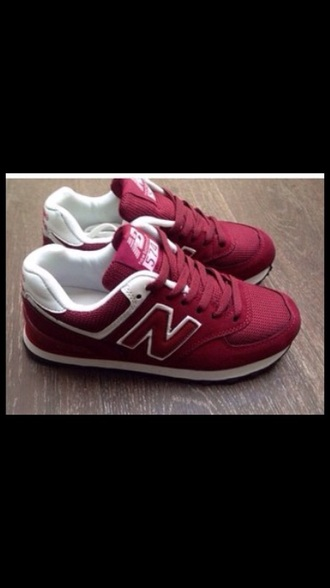 shoes red shoes new balance sneakers