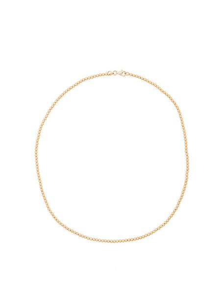 Carolina Bucci short women ball necklace gold grey metallic jewels
