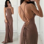 dress,lace up dress,beige dress,light brown,sexy dress,long dress,lace up,brown,lace-up dresses,nude dress,lace long dress,prom,classy,girl,backless,lace,strappy,strappy dress,maxi dress,criss cross back,open back dresses,brown dress,prom dress,prom gown,long prom dress,string dress,cute dress,cute,beautiful,eveningwear,bridesmaid,aliexpress,backless dress,halter neck,trail,train,mermaid,nude,evening dress,mermaid prom dress,elegant,elegant dress