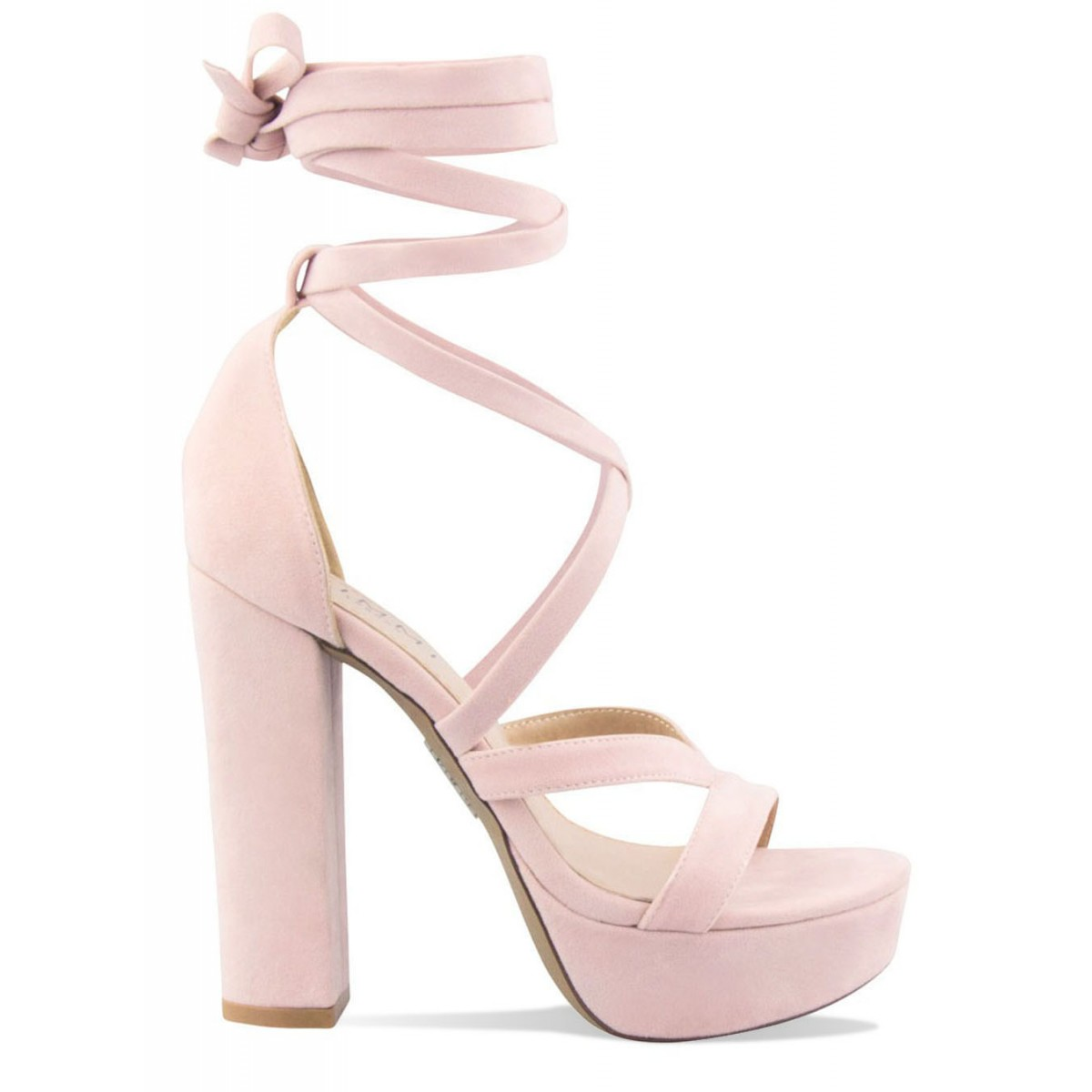 Pink Suede Lace Up Platform Heels : Simmi Shoes - Love Your Shoes!