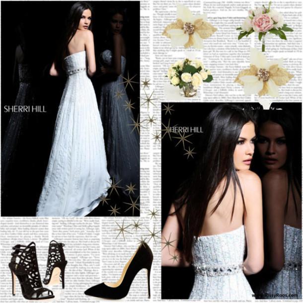 dress 2014 sherri hill 8437 white prom dresses