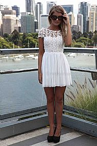 PRE ORDER - SPLENDED ANGEL DRESS (Expected Delivery 11th April, 2014) , DRESSES, TOPS, BOTTOMS, JACKETS & JUMPERS, ACCESSORIES, 50% OFF SALE, PRE ORDER, NEW ARRIVALS, PLAYSUIT, COLOUR, GIFT VOUCHER,,White,LACE,SHORT SLEEVE,MINI Australia, Queensland, Brisbane