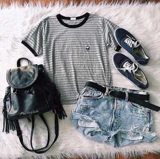 shorts belt shirt bag leather sneakers dark blue cute cool cool shirts cool bags top home accessory