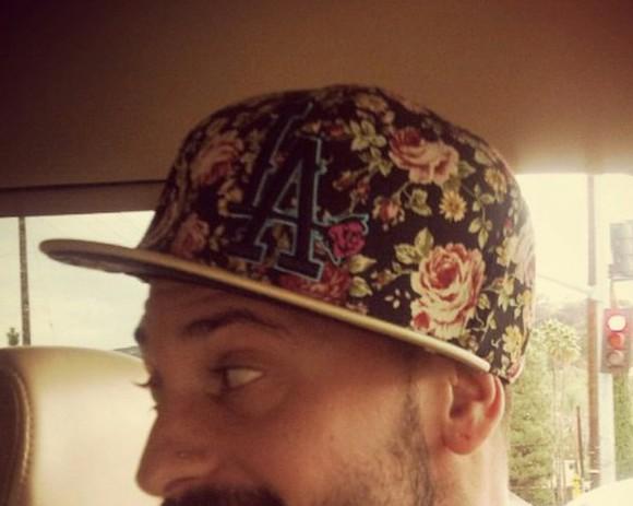 cap hat roses floral hat los angeles