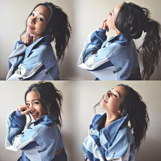 jacket t-shirt blue dress denim jacket tumblr outfit