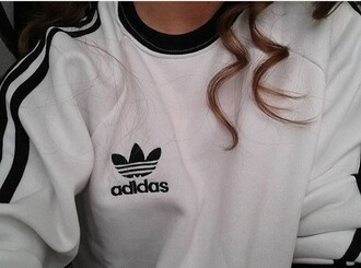 sweater fashion style winter outfits adidas pullover grunge black white black and white sportswear sports bra sporty girl dope wishlist dope grunge wishlist grunge t-shirt
