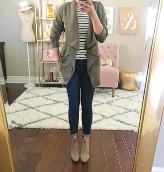 stylish petite blogger jacket shoes jeans shirt