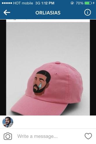 hat pink drake