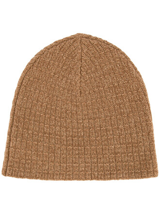 women beanie wool brown hat
