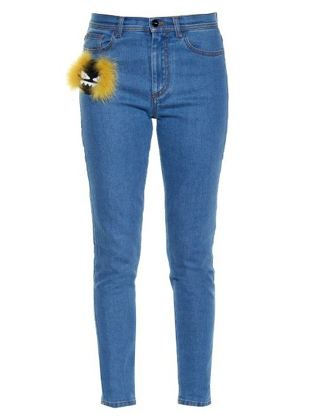 Fendi jeans embellished denim
