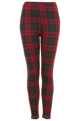 Red and Green Check Treggings - Leggings - Clothing - Topshop