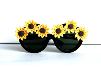 sunglasses sun summer glasses sunflower sun flower sun flower sunglasses