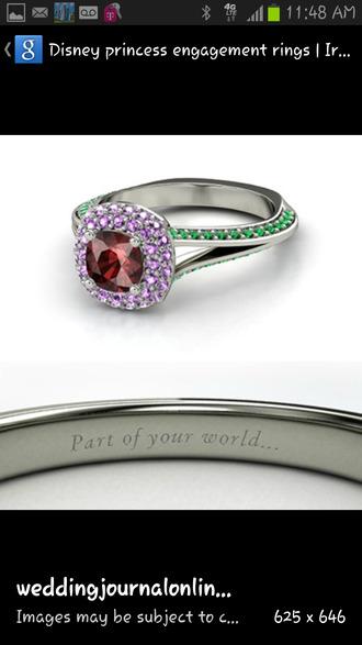 jewels disney princess engagement ring