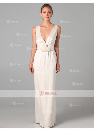 dress white dress sheath dresses v neck