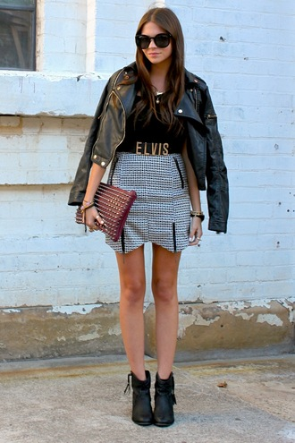 spin dizzy fall skirt shoes bag t-shirt jacket belt jeans jewels winter jacket fur trim hood aztec print coat parka