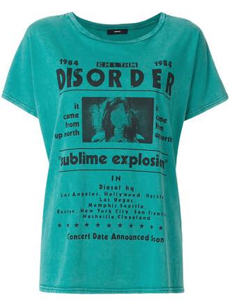 t-shirt shirt women cotton blue top