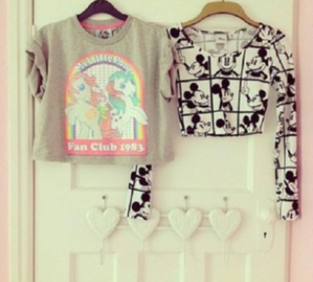 shirt disney disney cute my little pony mickey mouse vintage