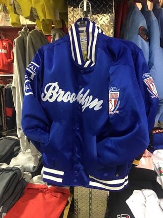 jacket blue flight jacket baseball jacket brooklyn