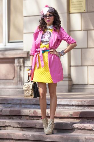 macademian girl coat dress shoes bag sunglasses jewels belt